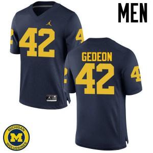 Michigan Wolverines #42 Ben Gedeon Men's Navy College Football Jersey 371335-864