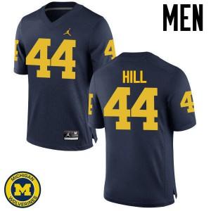 Michigan Wolverines #44 Delano Hill Men's Navy College Football Jersey 250725-496