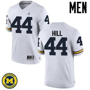 Michigan Wolverines #44 Delano Hill Men's White College Football Jersey 203599-406