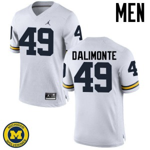 Michigan Wolverines #49 Anthony Dalimonte Men's White College Football Jersey 610653-976