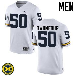 Michigan Wolverines #50 Michael Dwumfour Men's White College Football Jersey 835685-973