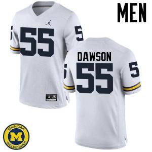 Michigan Wolverines #55 David Dawson Men's White College Football Jersey 399848-314