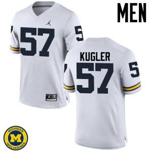 Michigan Wolverines #57 Patrick Kugler Men's White College Football Jersey 587204-848