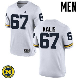 Michigan Wolverines #67 Kyle Kalis Men's White College Football Jersey 404903-338