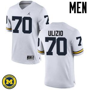 Michigan Wolverines #70 Nolan Ulizio Men's White College Football Jersey 401783-598