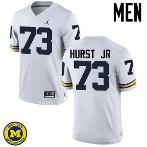 Michigan Wolverines #73 Maurice Hurst Jr Men's White College Football Jersey 287633-286