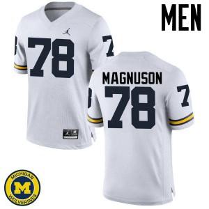 Michigan Wolverines #78 Erik Magnuson Men's White College Football Jersey 317049-785