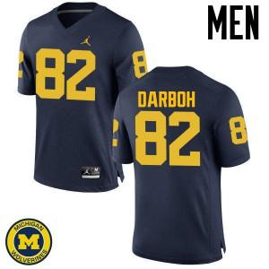 Michigan Wolverines #82 Amara Darboh Men's Navy College Football Jersey 987336-314