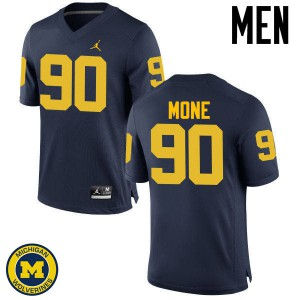 Michigan Wolverines #90 Bryan Mone Men's Navy College Football Jersey 901198-370