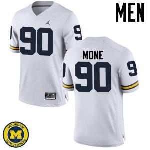 Michigan Wolverines #90 Bryan Mone Men's White College Football Jersey 670441-404