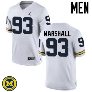 Michigan Wolverines #93 Lawrence Marshall Men's White College Football Jersey 312560-906