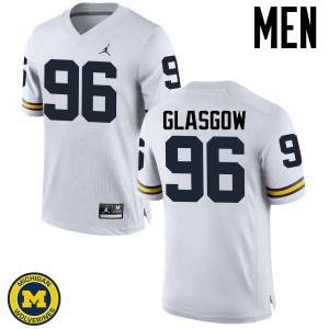 Michigan Wolverines #96 Ryan Glasgow Men's White College Football Jersey 799877-959