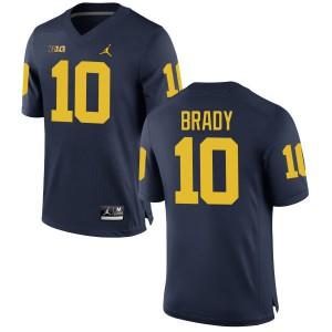 Michigan Wolverines #10 Tom Brady Men's Navy Stitched Jersey 272093-988
