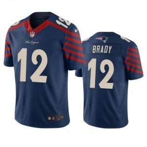 New England Patriots #12 Tom Brady Men's Navy Vapor Limited City Edition Jersey 754279-624