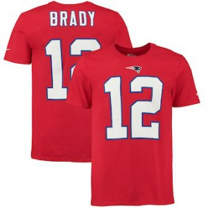 New England Patriots #12 Tom Brady Men's Player Pride Name & Number Red T-Shirt 662162-581
