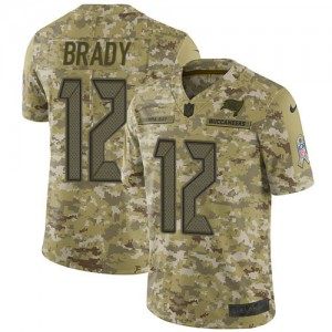 Tampa Bay Buccaneers #12 Tom Brady Men's Camo 2018 Stitched Limited Salute to Service Jersey 834780-328