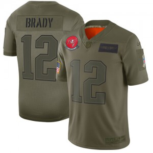Tampa Bay Buccaneers #12 Tom Brady Men's Camo 2019 Stitched Limited Salute to Service Jersey 436836-849