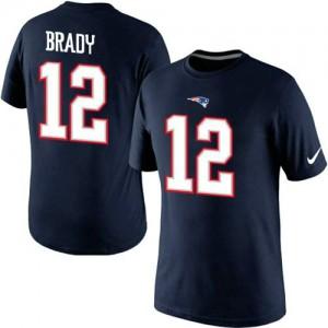 New England Patriots #12 Tom Brady Men's Pride Name & Number Navy Blue T-Shirt 230265-124