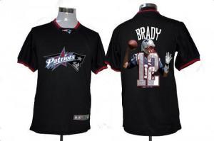 New England Patriots #12 Tom Brady Men's Black Game All Star Fashion Jersey 456135-655