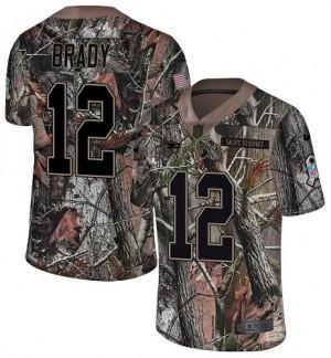 New England Patriots #12 Tom Brady Men's Camo Rush Realtree Stitched Limited Jersey 776393-659