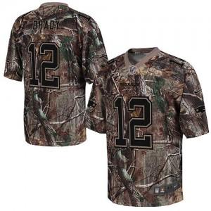 New England Patriots #12 Tom Brady Men's Camo Elite Stitched Realtree Jersey 765950-871