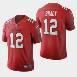 Tampa Bay Buccaneers #12 Tom Brady Men's Red 2020 Vapor Limited Jersey 887952-956