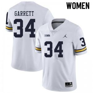 Michigan Wolverines #34 Julian Garrett Women's White College Football Jersey 547157-870