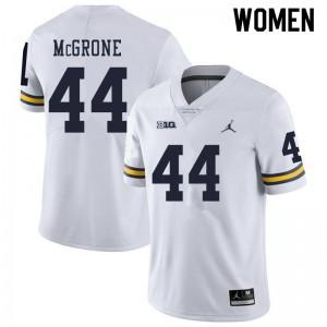 Michigan Wolverines #44 Cameron McGrone Women's White College Football Jersey 704364-183