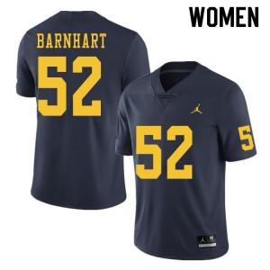 Michigan Wolverines #52 Karsen Barnhart Women's Navy College Football Jersey 998205-194