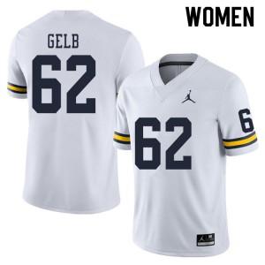 Michigan Wolverines #62 Mica Gelb Women's White College Football Jersey 484661-329