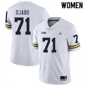 Michigan Wolverines #71 David Ojabo Women's White College Football Jersey 623770-613