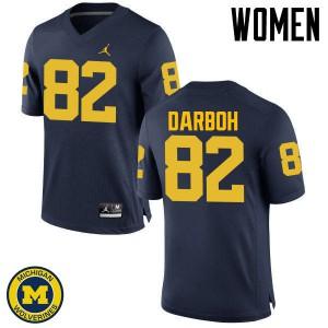 Michigan Wolverines #82 Amara Darboh Women's Navy College Football Jersey 854182-788