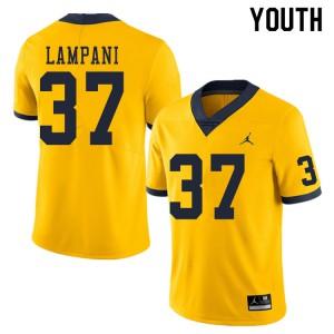 Michigan Wolverines #37 Jonathan Lampani Youth Yellow College Football Jersey 805478-200