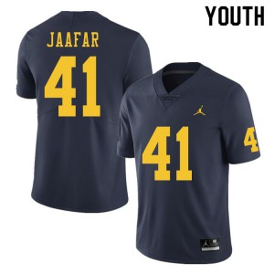Michigan Wolverines #41 Abe Jaafar Youth Navy College Football Jersey 118697-982