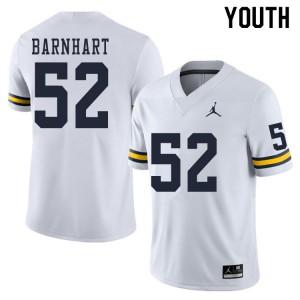 Michigan Wolverines #52 Karsen Barnhart Youth White College Football Jersey 523490-657