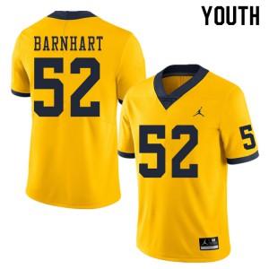 Michigan Wolverines #52 Karsen Barnhart Youth Yellow College Football Jersey 520723-222