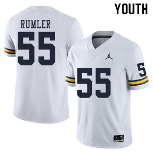Michigan Wolverines #55 Nolan Rumler Youth White College Football Jersey 785901-227