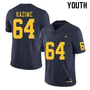 Michigan Wolverines #64 Mahdi Hazime Youth Navy College Football Jersey 194236-816
