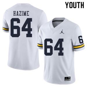 Michigan Wolverines #64 Mahdi Hazime Youth White College Football Jersey 929660-775