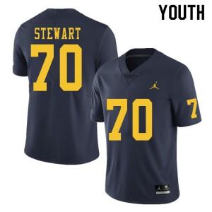 Michigan Wolverines #70 Jack Stewart Youth Navy College Football Jersey 468776-164