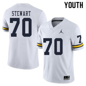 Michigan Wolverines #70 Jack Stewart Youth White College Football Jersey 661437-641