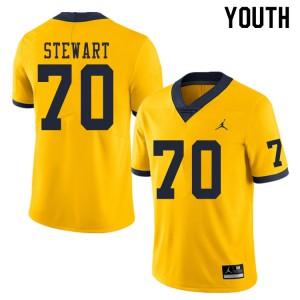 Michigan Wolverines #70 Jack Stewart Youth Yellow College Football Jersey 479697-693