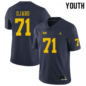 Michigan Wolverines #71 David Ojabo Youth Navy College Football Jersey 904967-825