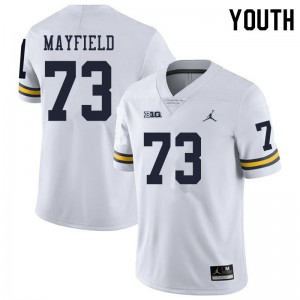 Michigan Wolverines #73 Jalen Mayfield Youth White College Football Jersey 716671-256