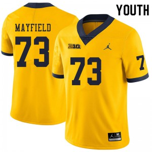 Michigan Wolverines #73 Jalen Mayfield Youth Yellow College Football Jersey 292711-286