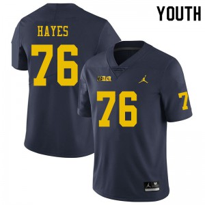 Michigan Wolverines #76 Ryan Hayes Youth Navy College Football Jersey 424229-842
