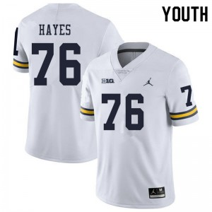 Michigan Wolverines #76 Ryan Hayes Youth White College Football Jersey 986505-142