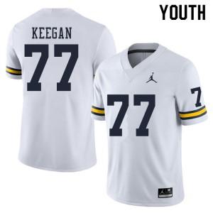 Michigan Wolverines #77 Trevor Keegan Youth White College Football Jersey 292300-849