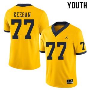 Michigan Wolverines #77 Trevor Keegan Youth Yellow College Football Jersey 850279-242