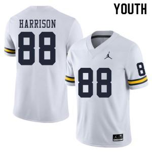 Michigan Wolverines #88 Mathew Harrison Youth White College Football Jersey 506145-671